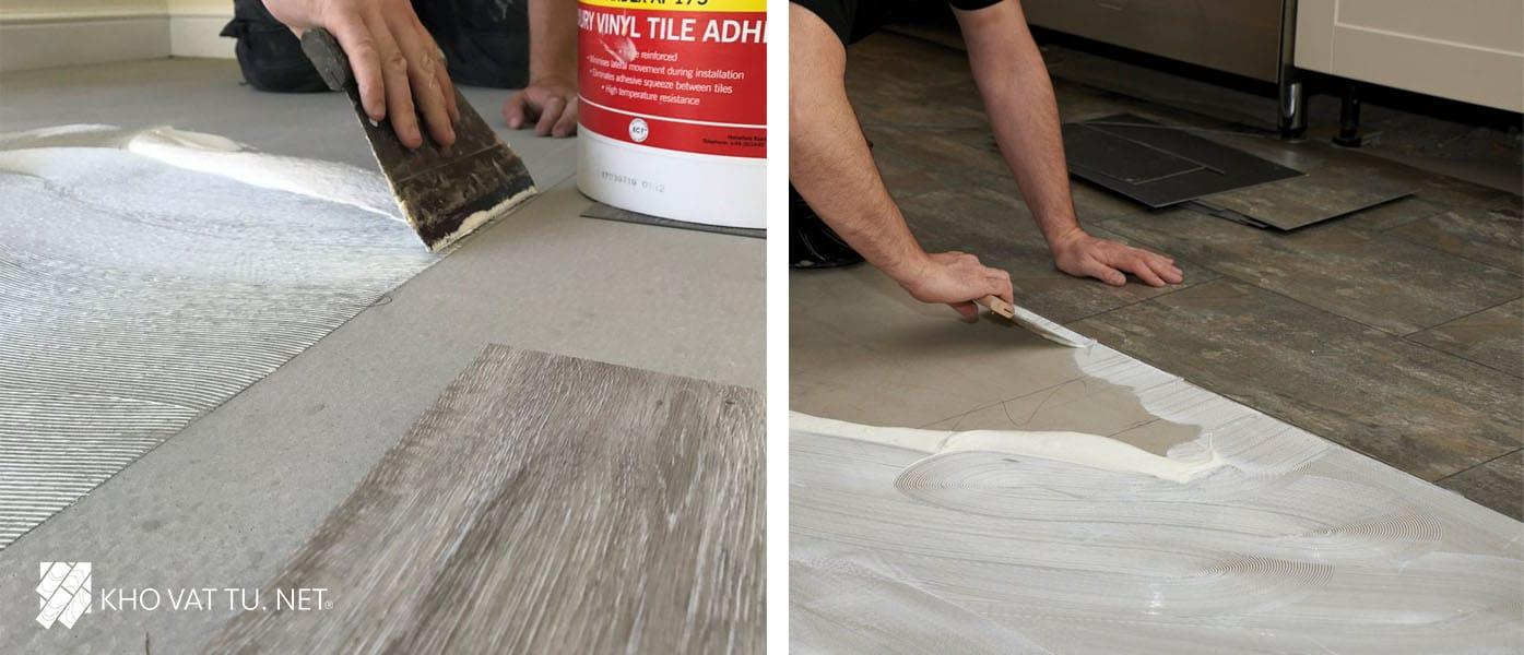 Những lưu ý về cách dán sàn nhựa giả gỗ