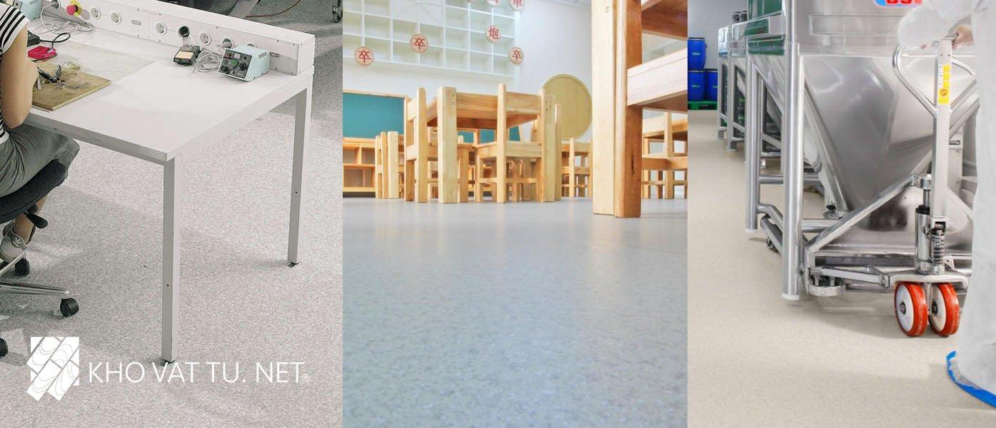 Ứng dụng sàn vinyl chống tĩnh điện